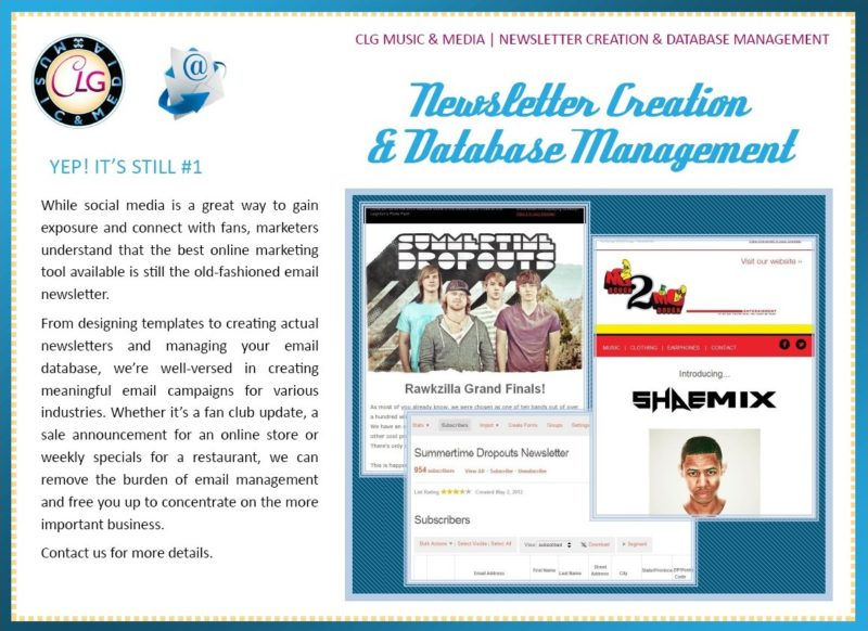 Newsletter Creation and Database Management